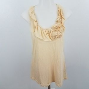 ~ Ya Los Angeles Tank Top S Ruffle Tulle Floral Sl